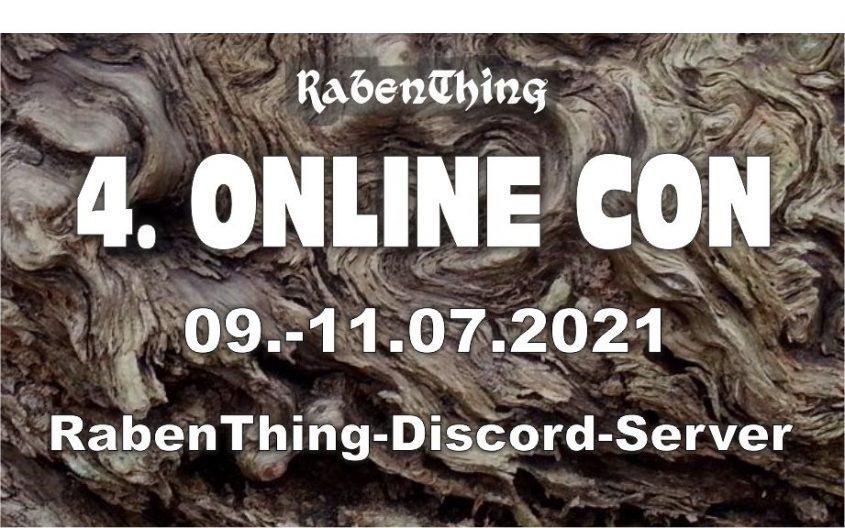 Nachdem die vom RabenThing veranstaltete 3. Online-Con im April alle eigene Rekorde gebrochen hatte – 27 Spielrunden und mehr Teilnehmer als je zuvor und Unterstützung durch deutsche Verlage &#...